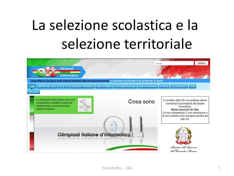 La selezione scolastica e la selezione territoriale