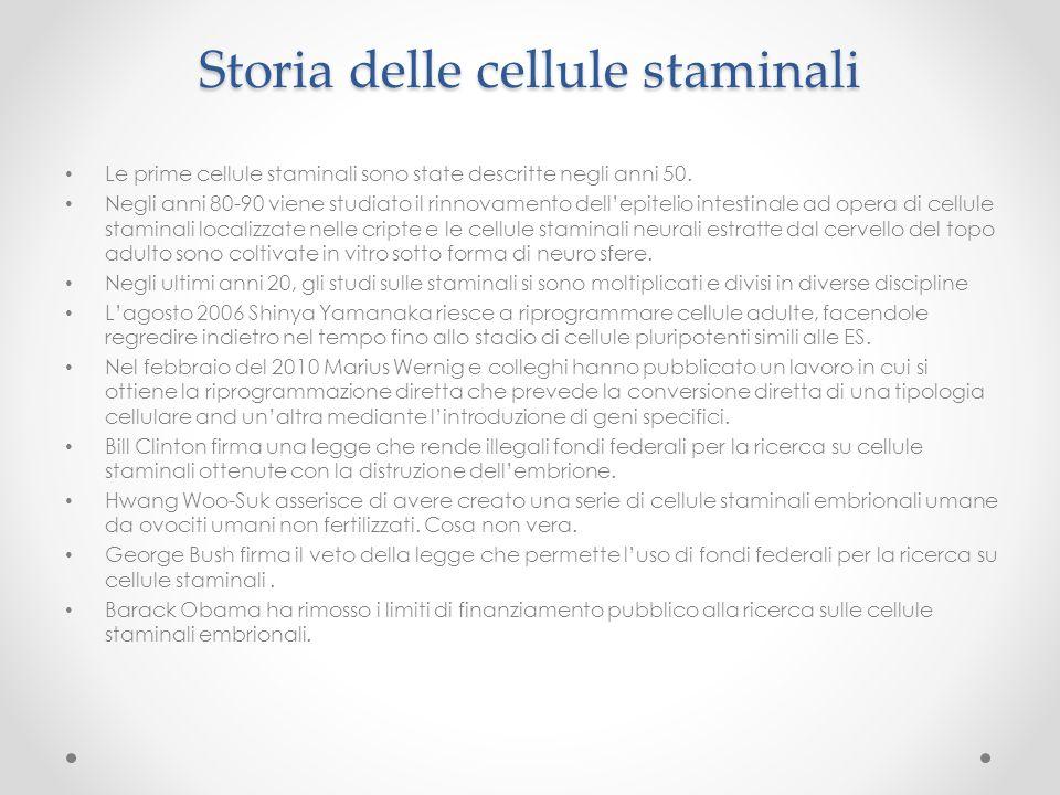 Storia delle cellule staminali