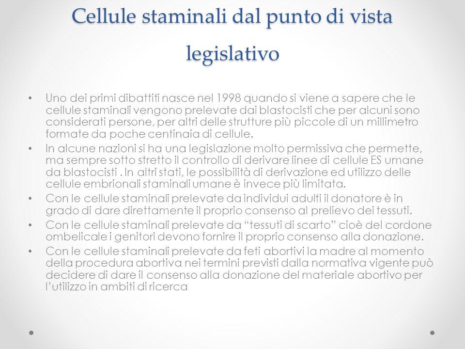 Cellule staminali dal punto di vista legislativo