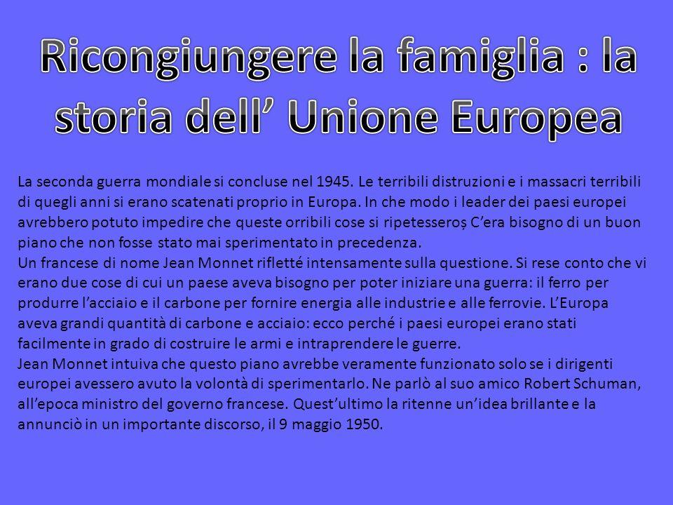 Ricongiungere la famiglia : la storia dell' Unione Europea
