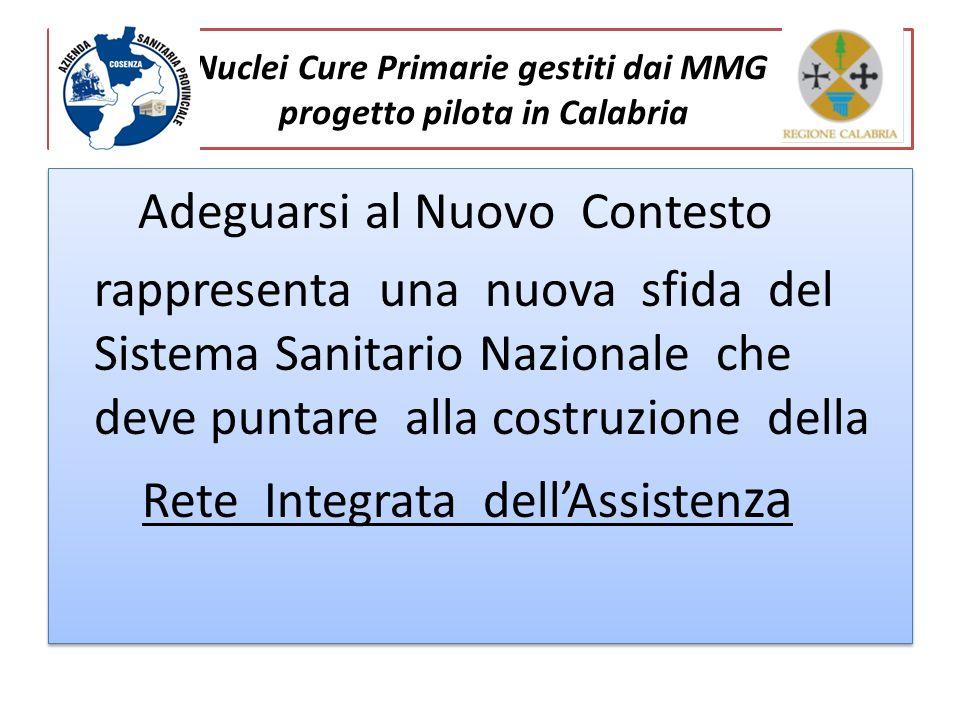 Nuclei Cure Primarie gestiti dai MMG progetto pilota in Calabria