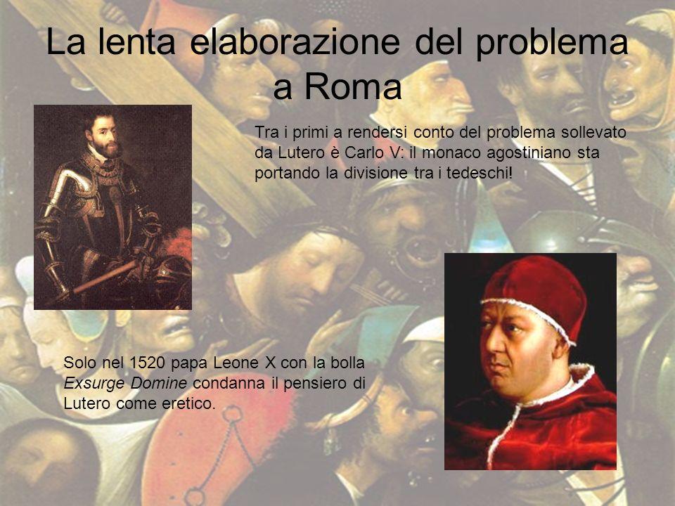 La lenta elaborazione del problema a Roma