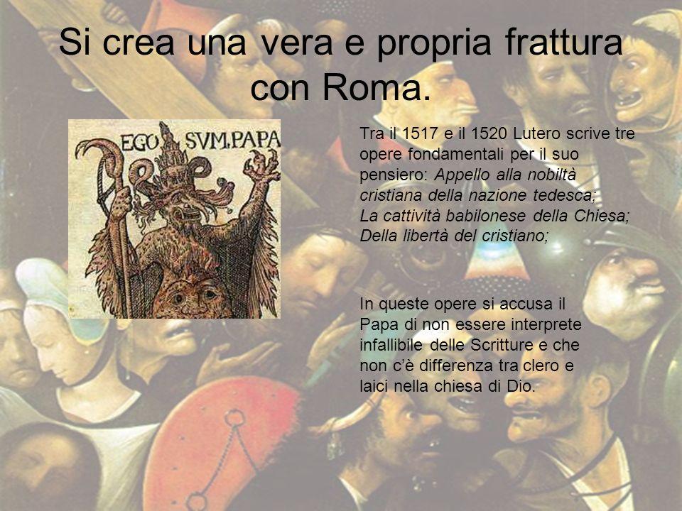 Si crea una vera e propria frattura con Roma.