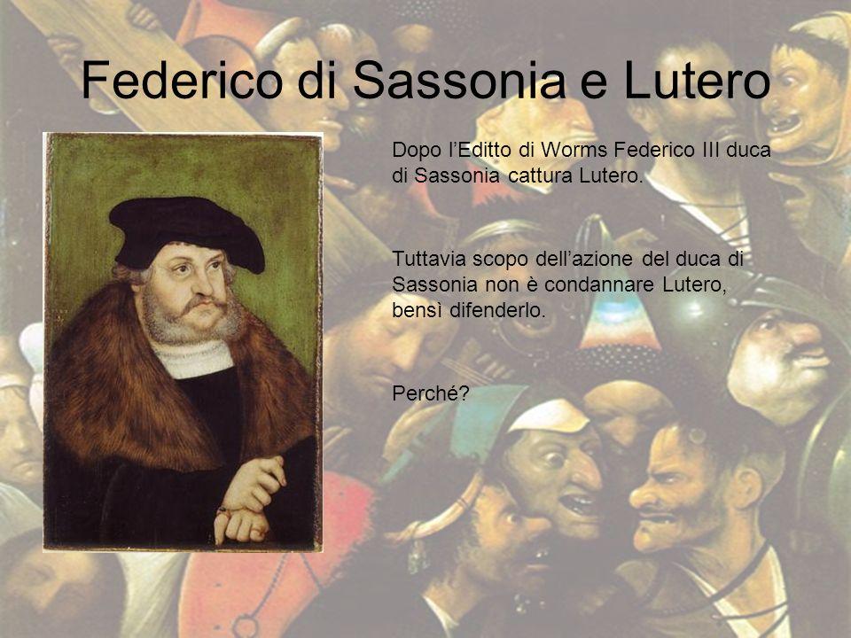 Federico di Sassonia e Lutero