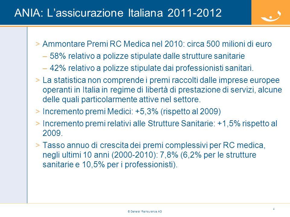ANIA: L'assicurazione Italiana 2011-2012