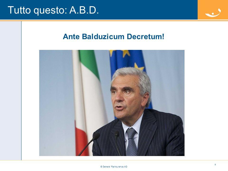 Ante Balduzicum Decretum!