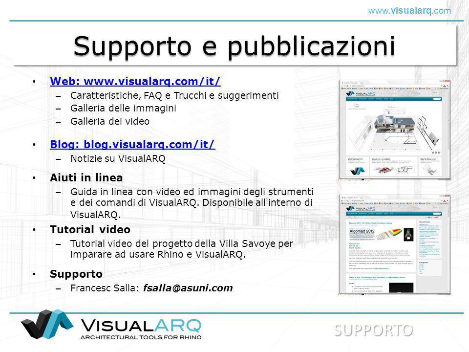 Supporto e pubblicazioni