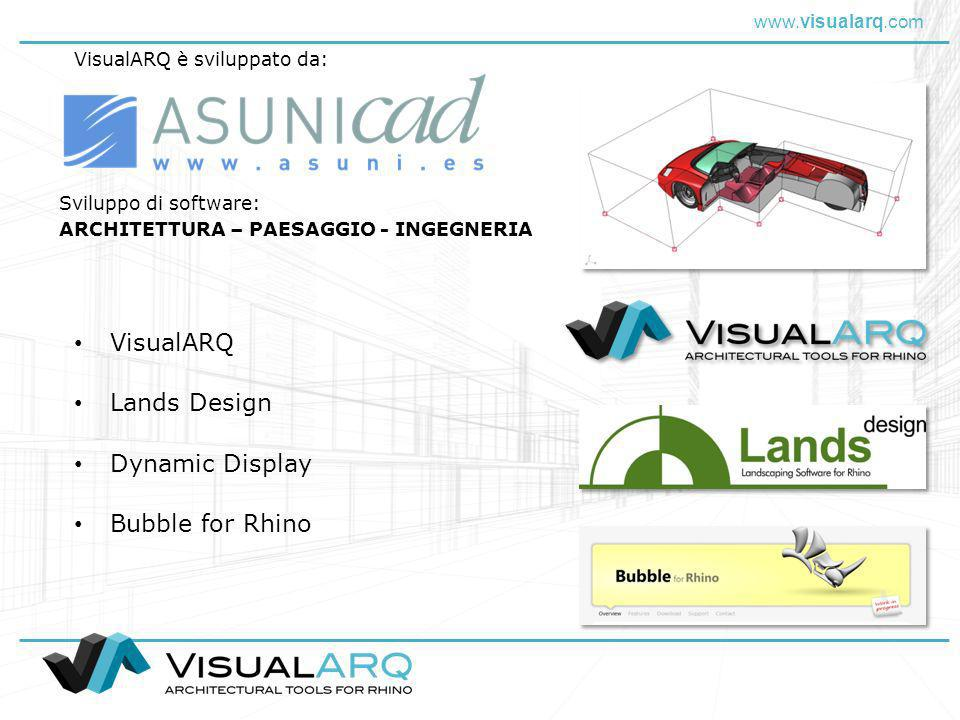 VisualARQ Lands Design Dynamic Display Bubble for Rhino