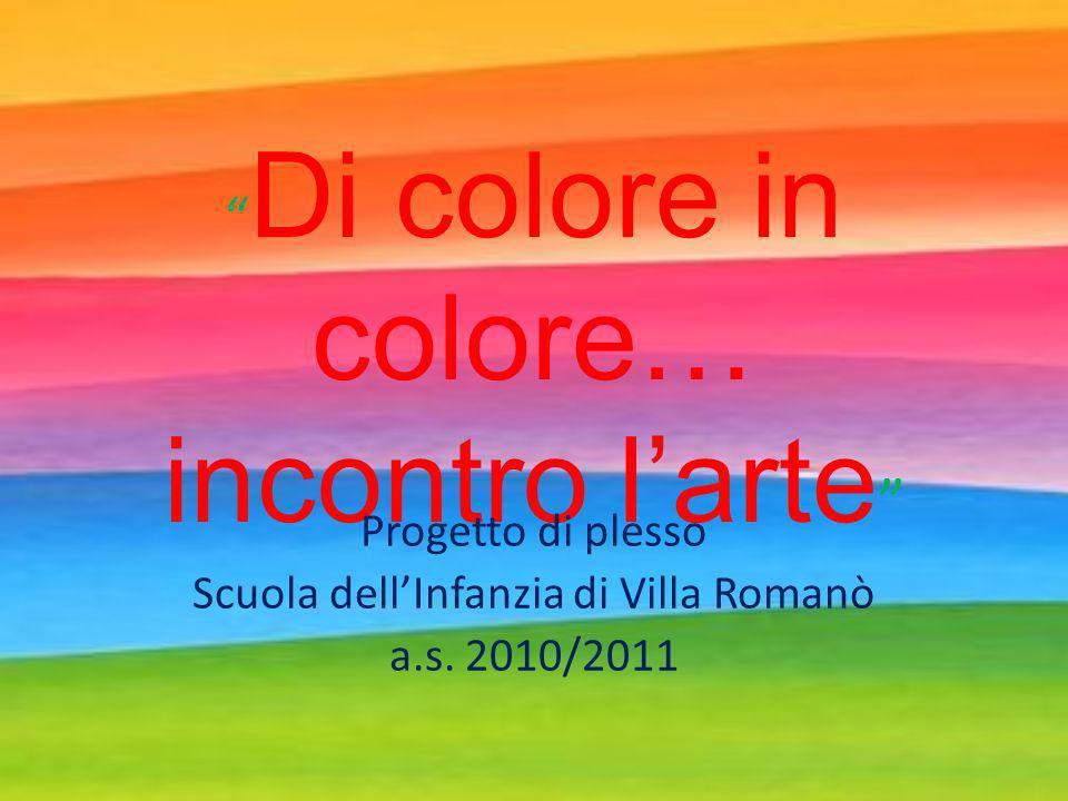 Di colore in colore… incontro l'arte