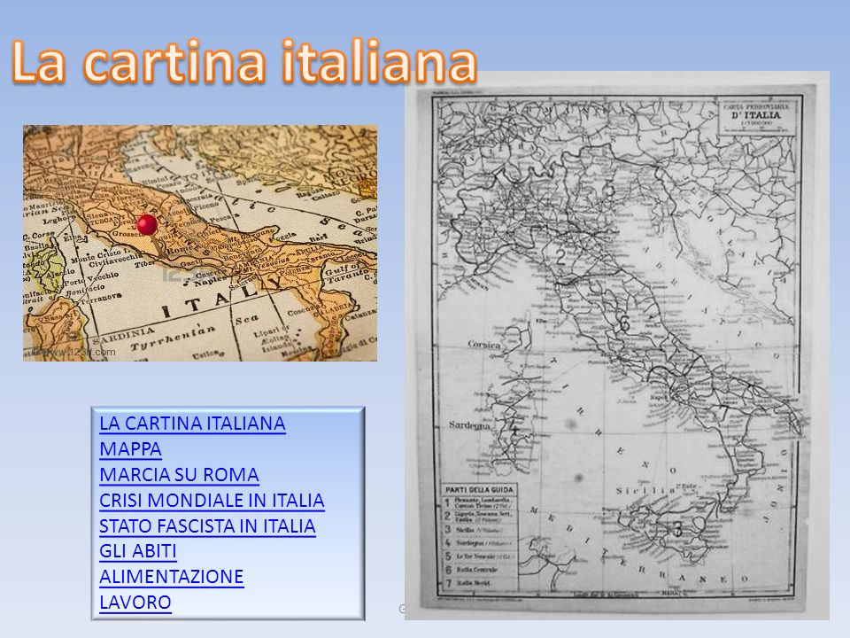 La cartina italiana LA CARTINA ITALIANA MAPPA MARCIA SU ROMA