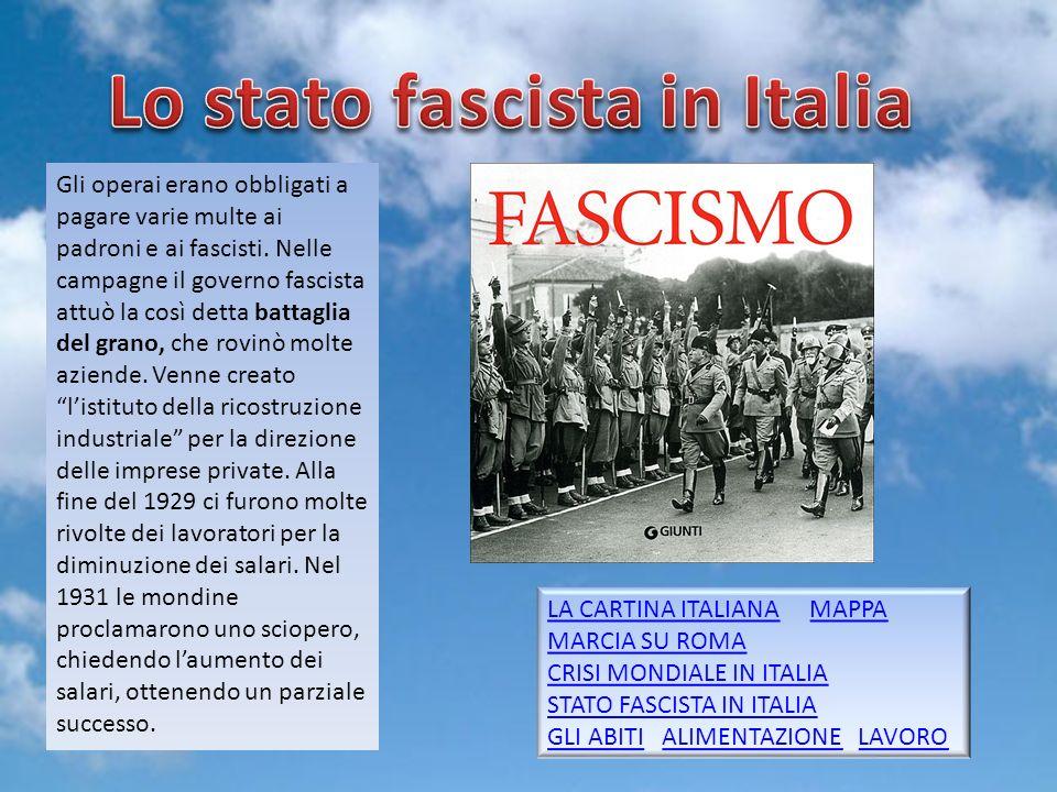 Lo stato fascista in Italia