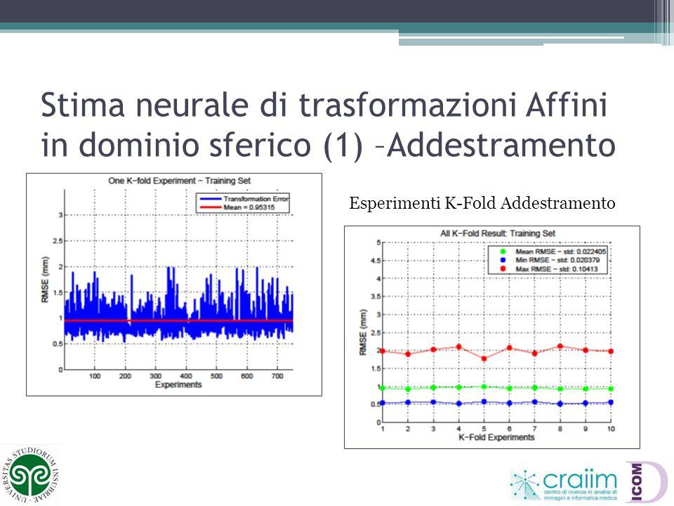 Stima neurale di trasformazioni Affini in dominio sferico (1) –Addestramento
