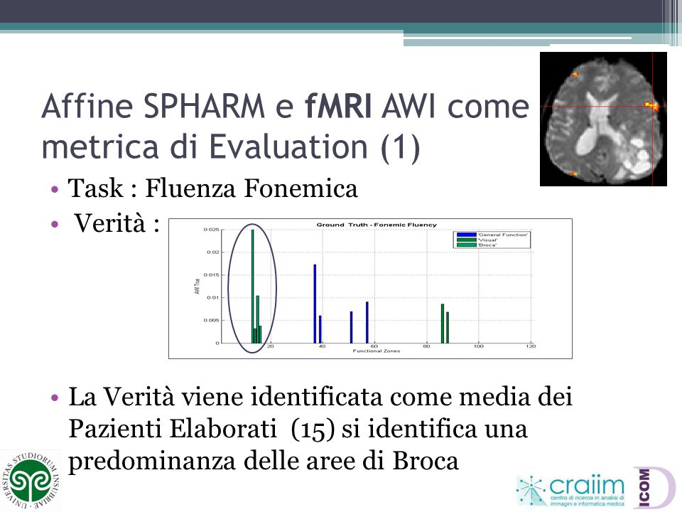 Affine SPHARM e fMRI AWI come metrica di Evaluation (1)