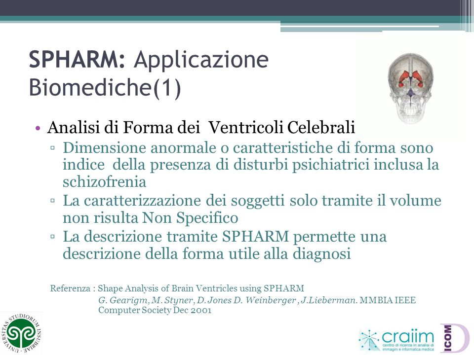 SPHARM: Applicazione Biomediche(1)