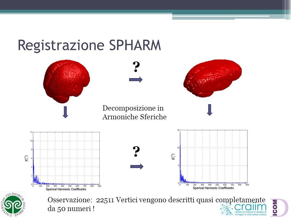 Registrazione SPHARM Decomposizione in Armoniche Sferiche