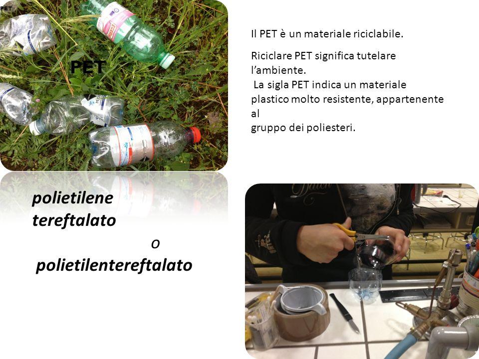 polietilene tereftalato o polietilentereftalato