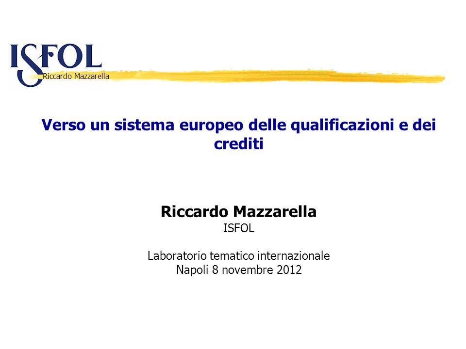 Verso un sistema europeo delle qualificazioni e dei crediti