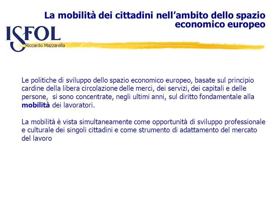 La mobilità dei cittadini nell'ambito dello spazio economico europeo