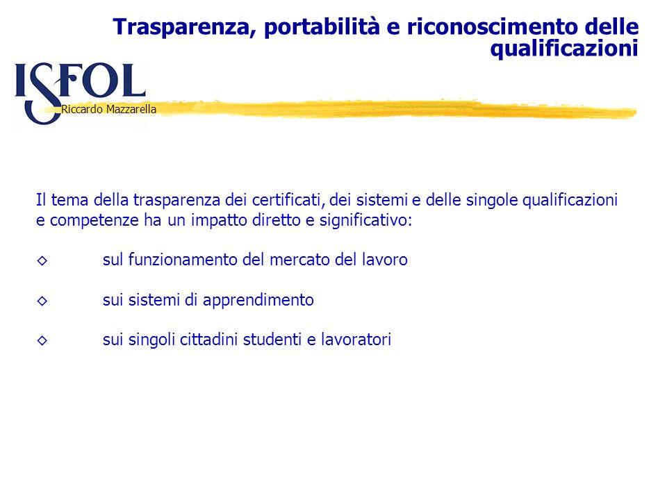 Trasparenza, portabilità e riconoscimento delle qualificazioni