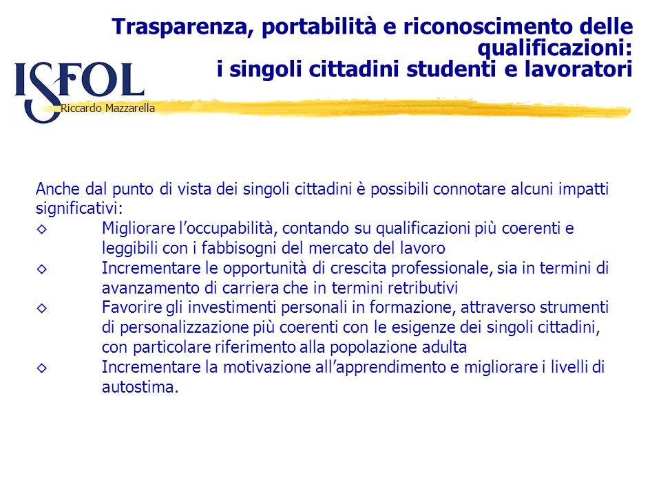 Trasparenza, portabilità e riconoscimento delle qualificazioni: