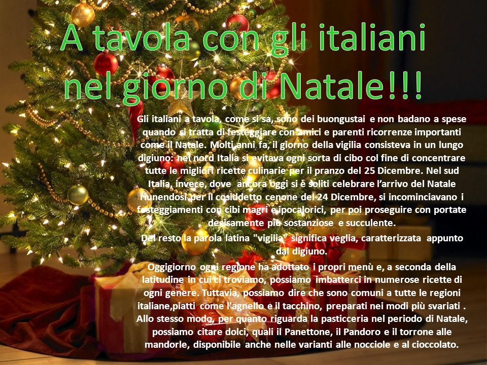 A tavola con gli italiani nel giorno di natale ppt - Regioni italiane non bagnate dal mare ...