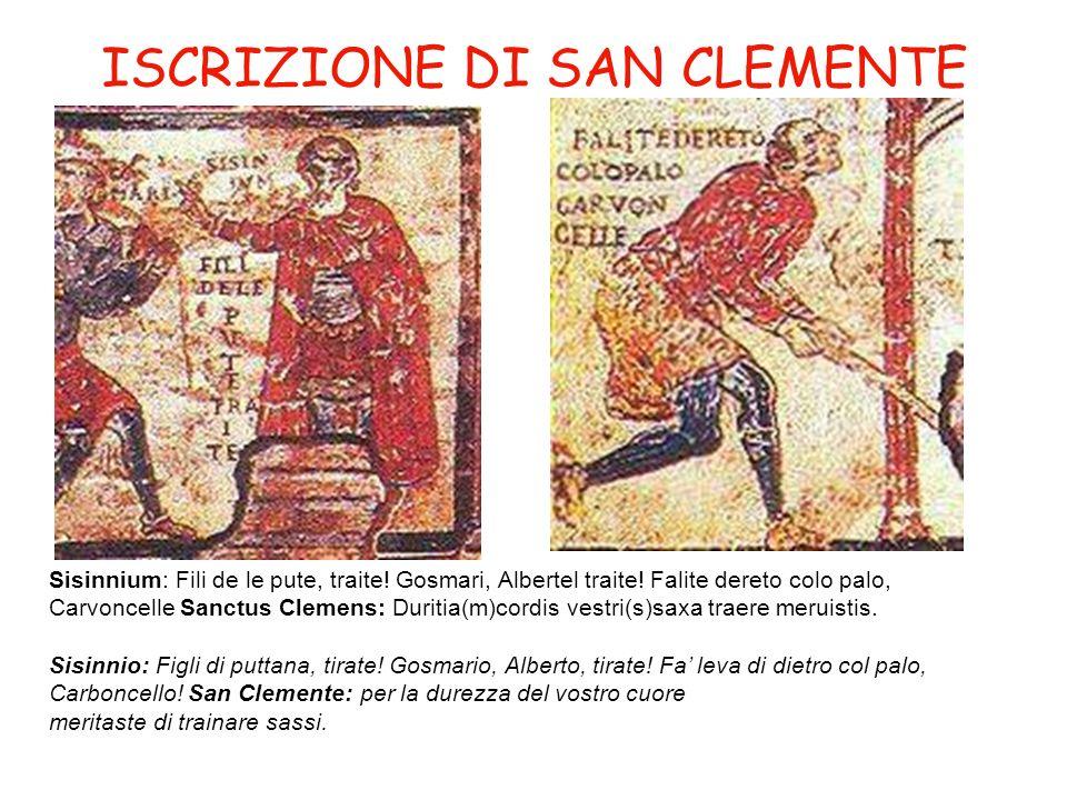 ISCRIZIONE DI SAN CLEMENTE