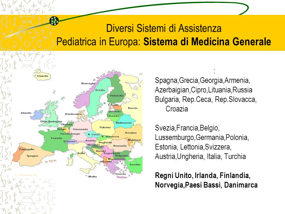 Diversi Sistemi di Assistenza Pediatrica in Europa: Sistema di Medicina Generale