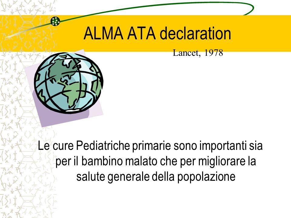 ALMA ATA declaration Lancet, 1978.