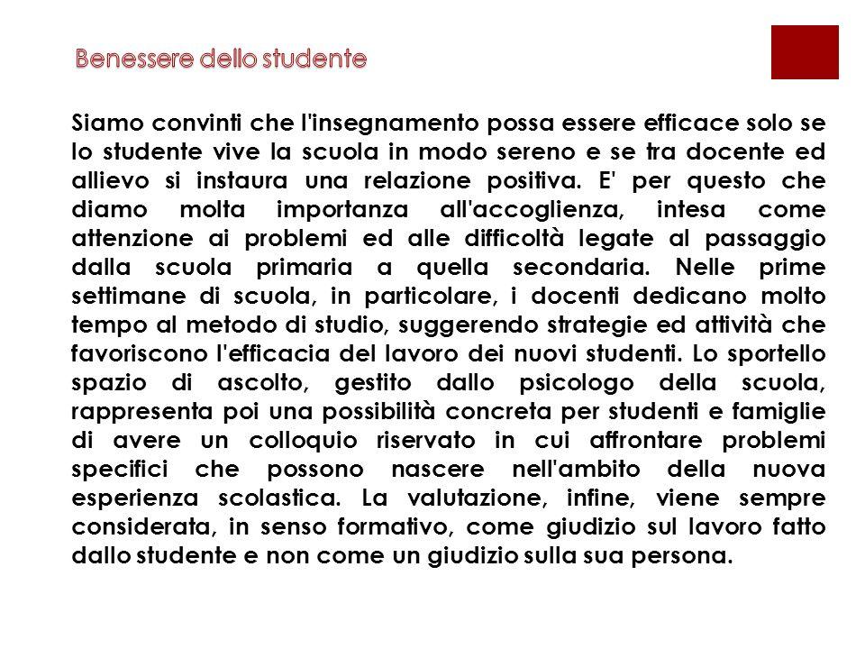 Benessere dello studente