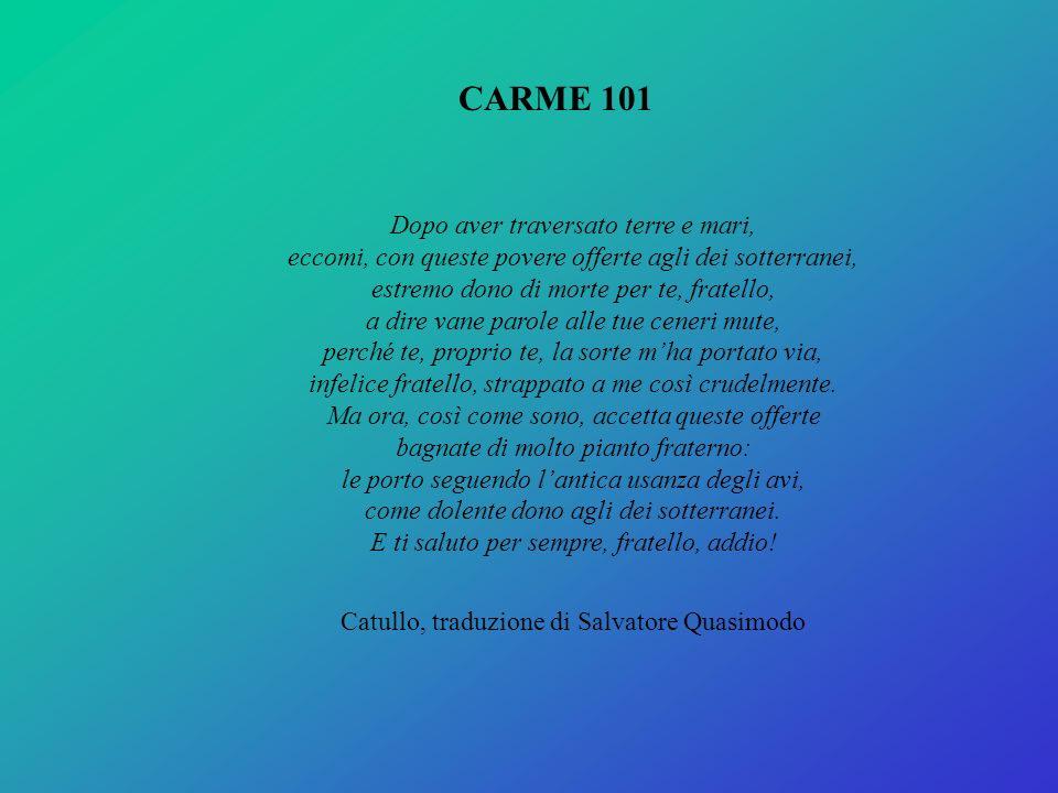 Catullo, traduzione di Salvatore Quasimodo