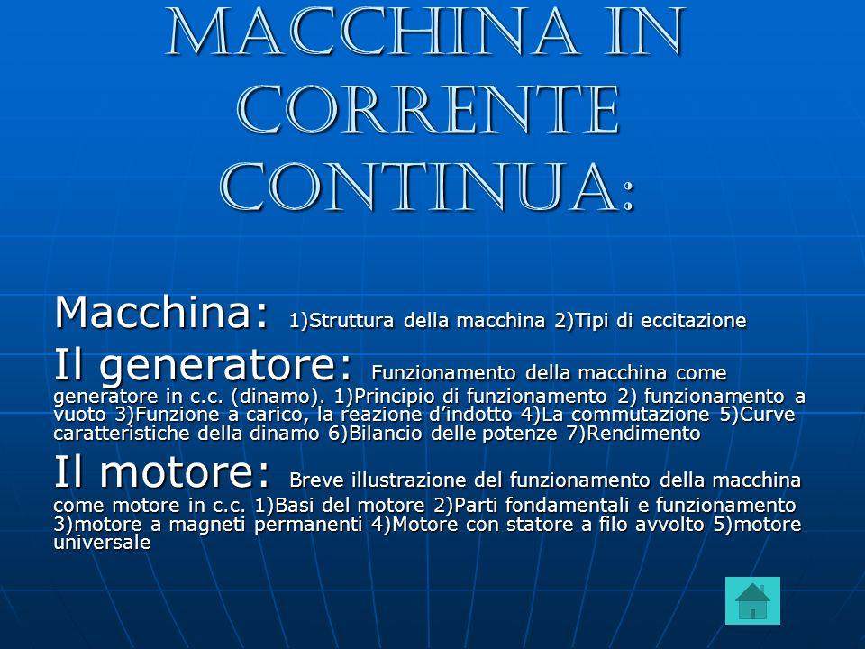 Macchina in corrente continua: