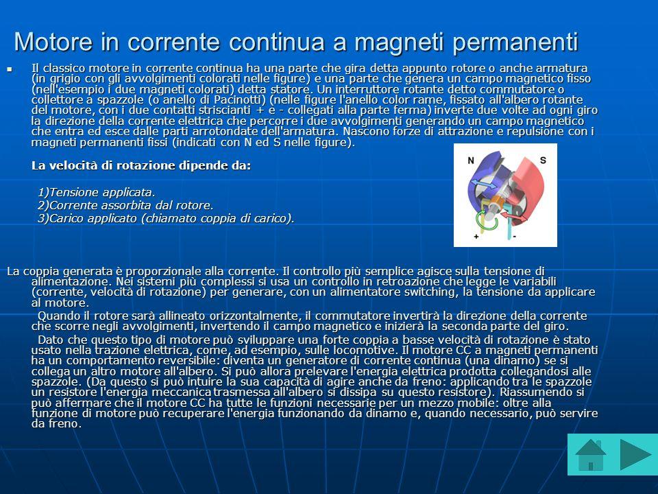 Motore in corrente continua a magneti permanenti