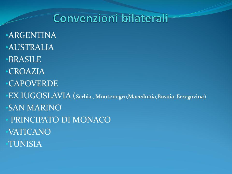 Convenzioni bilaterali