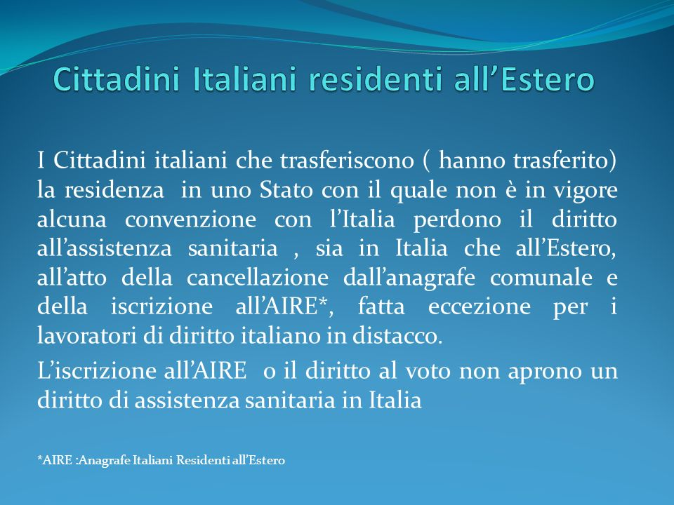 Cittadini Italiani residenti all'Estero