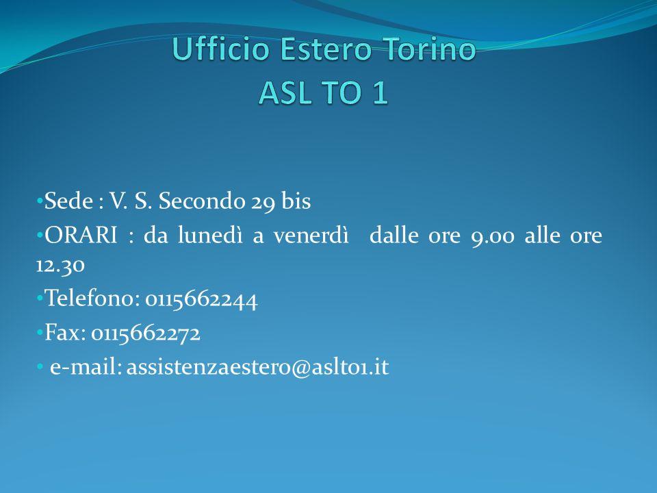 Ufficio Estero Torino ASL TO 1