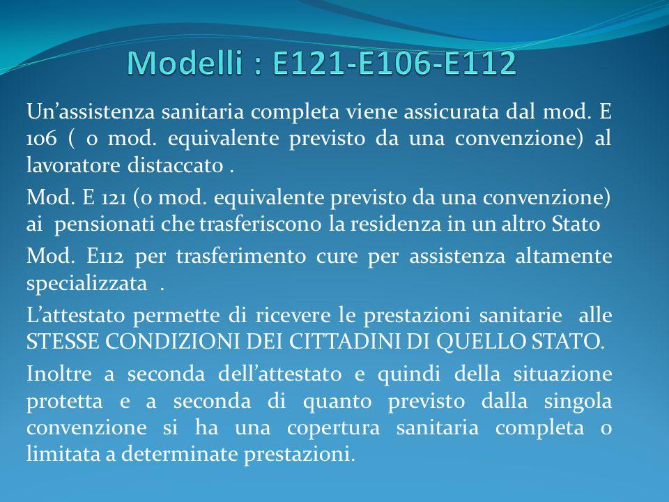 Modelli : E121-E106-E112