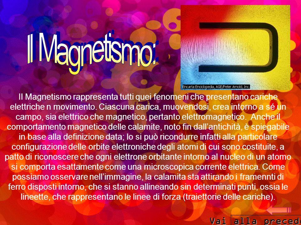 Il Magnetismo: Vai alla precedente