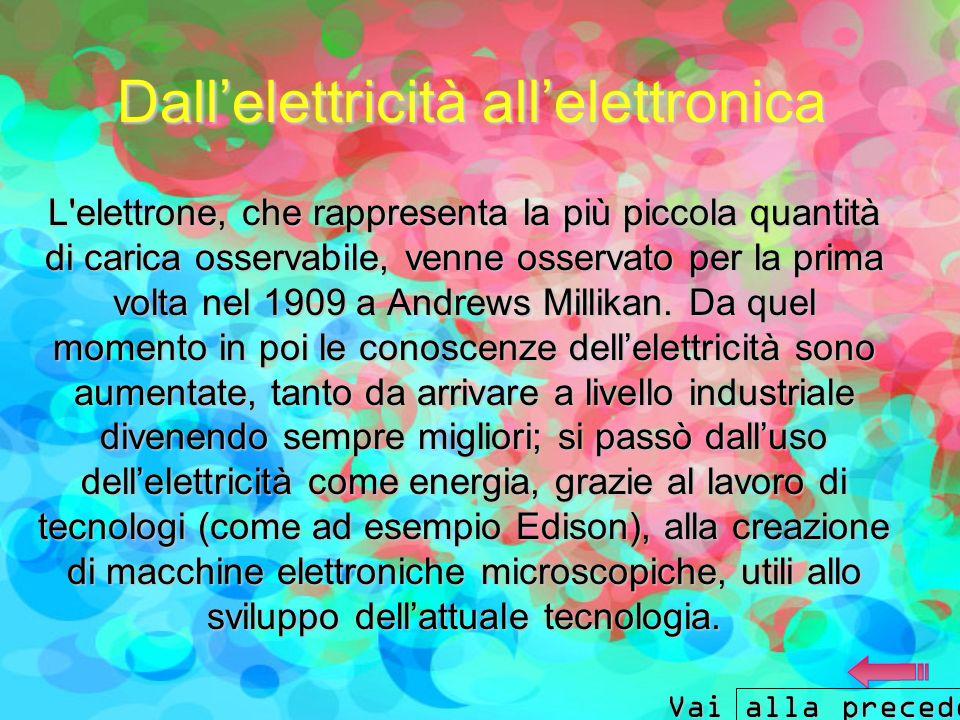 Dall'elettricità all'elettronica