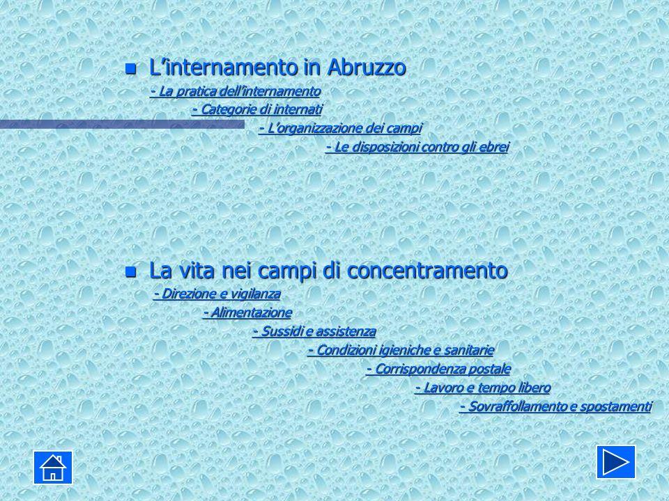 L'internamento in Abruzzo