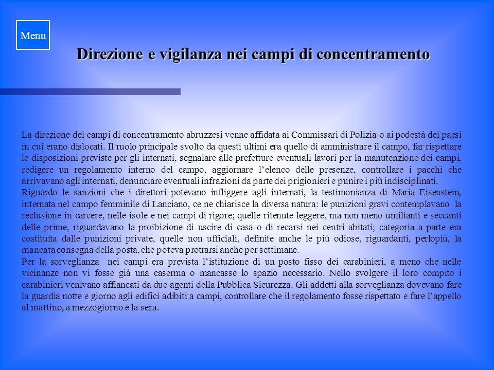 Direzione e vigilanza nei campi di concentramento