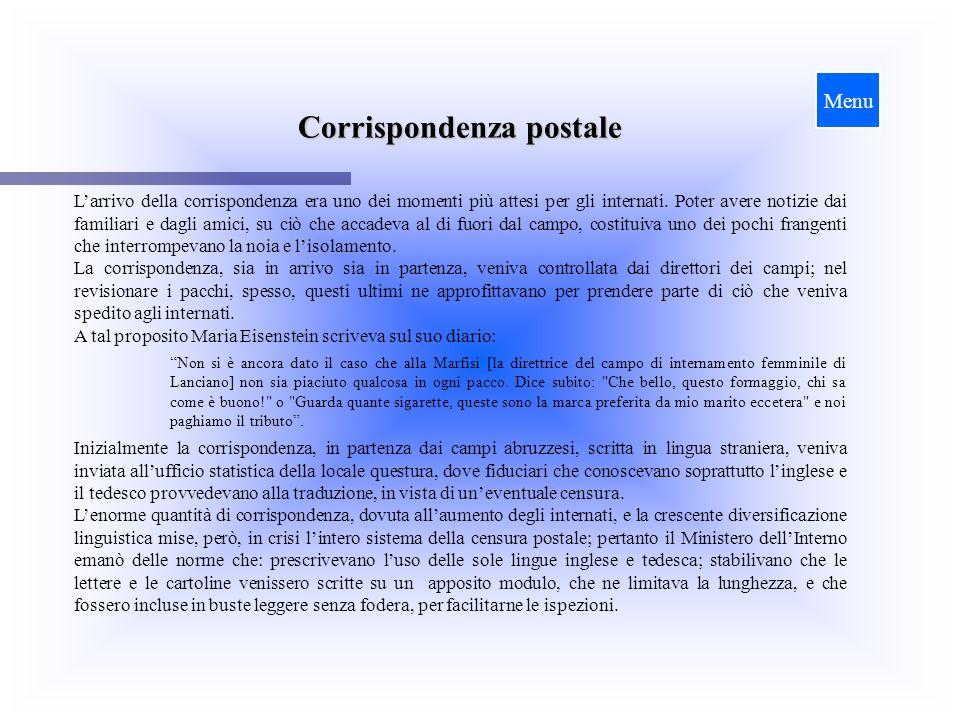 Corrispondenza postale