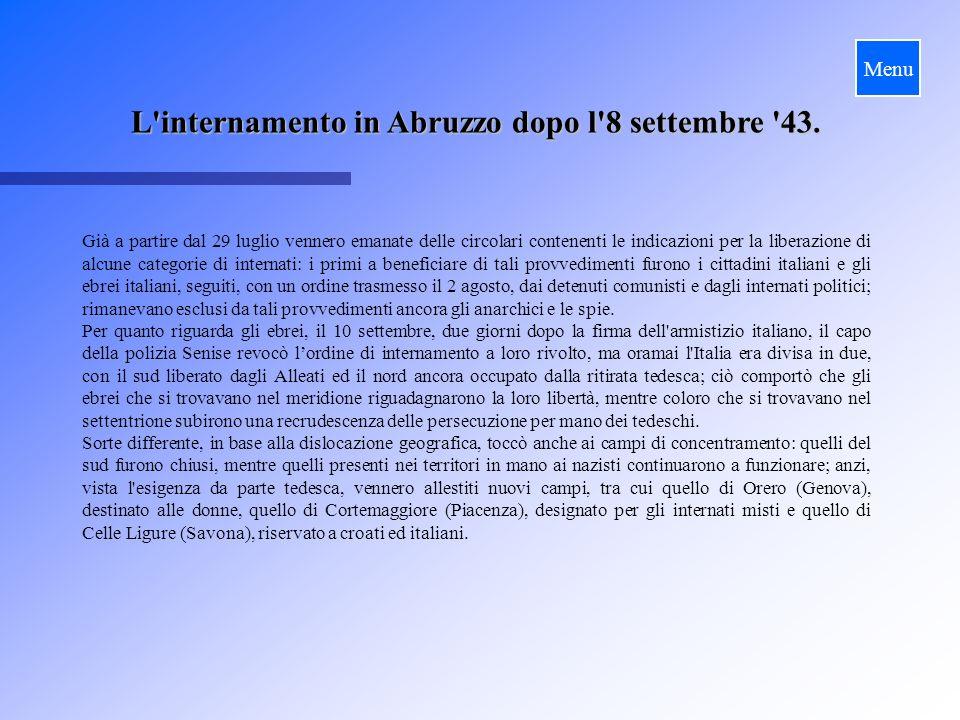 L internamento in Abruzzo dopo l 8 settembre 43.