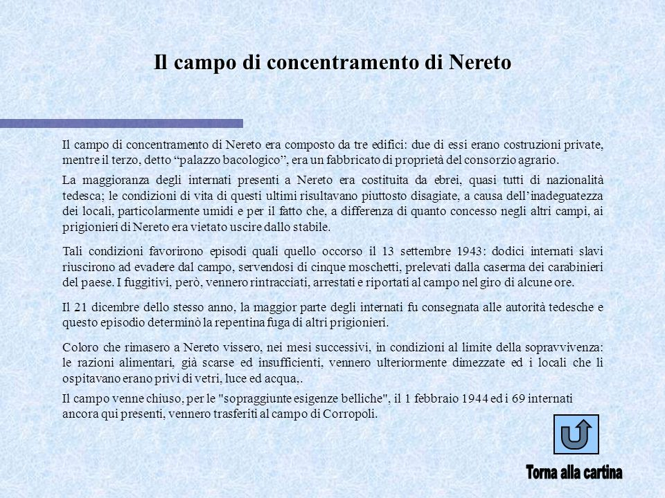 Il campo di concentramento di Nereto