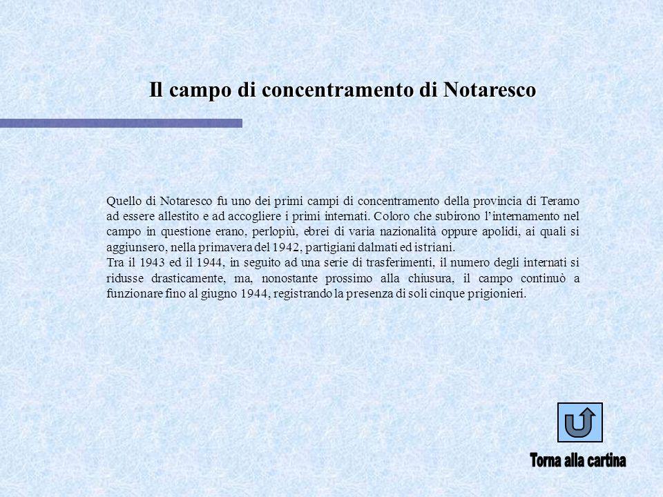 Il campo di concentramento di Notaresco