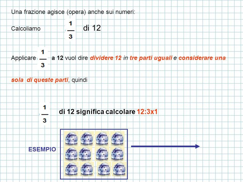 di 12 significa calcolare 12:3x1