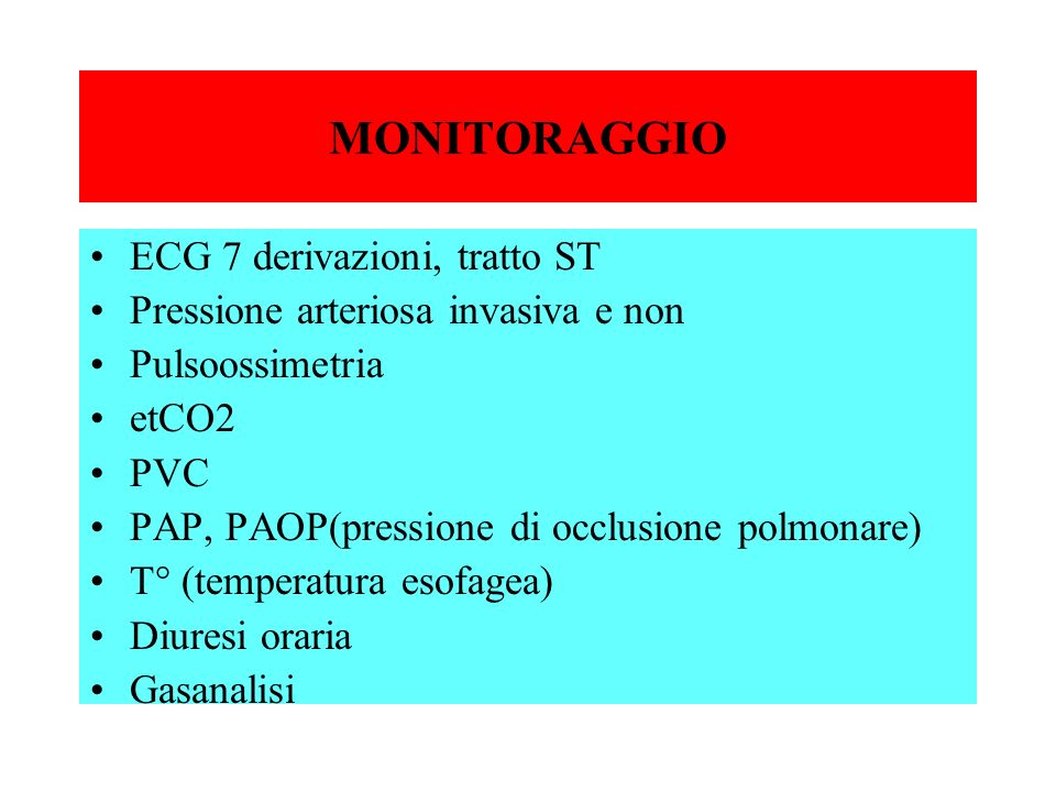 MONITORAGGIO ECG 7 derivazioni, tratto ST