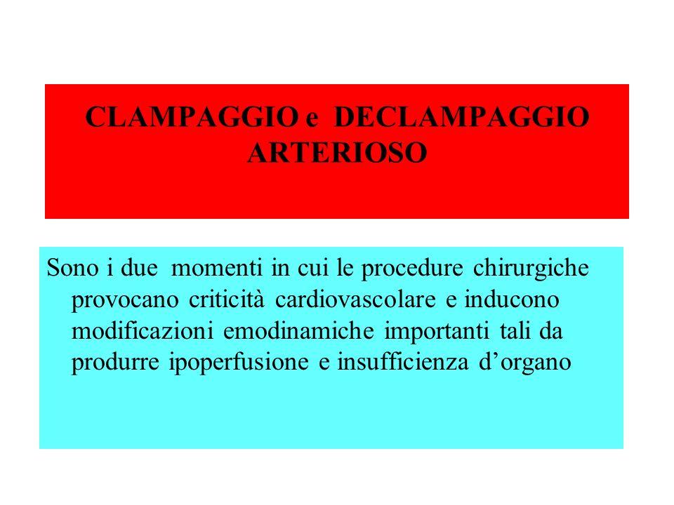 CLAMPAGGIO e DECLAMPAGGIO ARTERIOSO