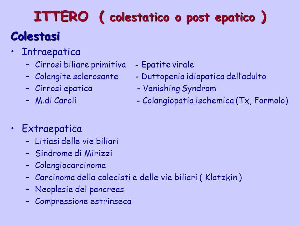 ITTERO ( colestatico o post epatico )