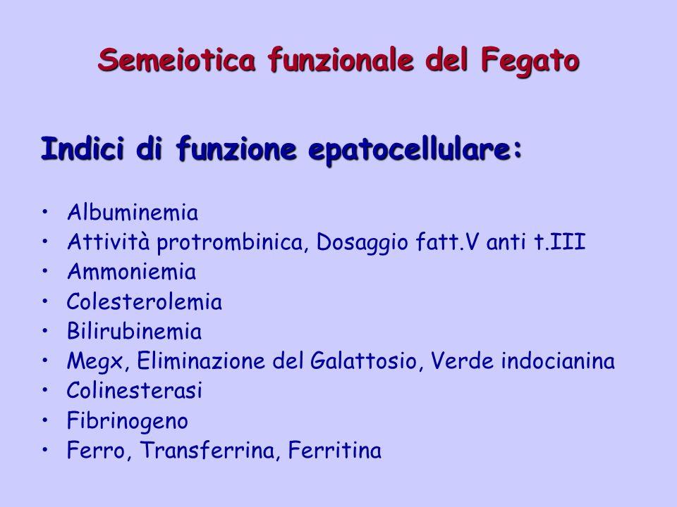Semeiotica funzionale del Fegato