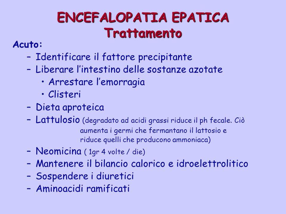 ENCEFALOPATIA EPATICA Trattamento